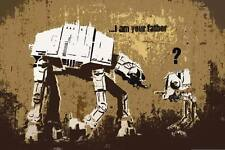 Banksy I'm your Father star wars poster  A2 SIZE
