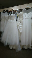 Job lot 5 x Ivory Modern Lace Tulle Taffeta Wedding Dresses UK 10 12 14 16