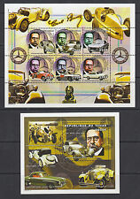 Chad Sc 847-848 MNH. 2000 Mercedes Benz Automobile History, cplt set of 2 sheets