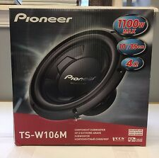 "Pioneer TSW106M 1100W Peak (250W RMS) 10"" Single 4-Ohm Car Subwoofer NEW"