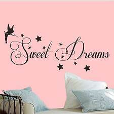 sweet dreams wall art quote vinyl transfer stars sticker Mural Decor tinkerbell