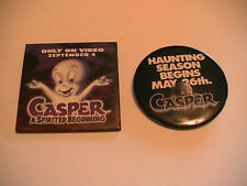 TWO CASPER THE FRIENDLY GHOST CARTOON MOVIE PREMIER PINS PINBACKS 1995 & 1997