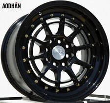 AODHAN AH04 15x8 4x100 / 4x114.3 +20 Black (PAIR) wheels