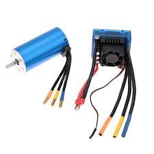 3674 2250KV 4P Sensorless Brushless Motor with 120A ESC for 1/8 RC Car S7D3