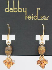 DABBY REID NEW Semiprecious Tiger Eye Drop Earrings PME8183G Y18