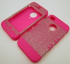 Silicone Case for iPhone 4 4S Glitter Pink Skin