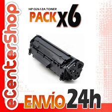 6 Toners Compatibles HP Q2612A NON-OEM para HP Laserjet 1018