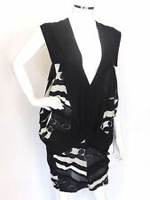 Limi Feu Black-White Tunic Dress Top Retail $765 Made in Japan