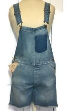 RALPH LAUREN Bib Overalls Shortalls Distressed Vintage Inspired Button Fly XS