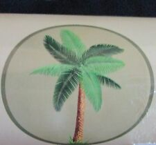 NEW PALM TREE PALM TREES TAN BATHROOM BATH TUB MAT WITH SUCTION CUPS