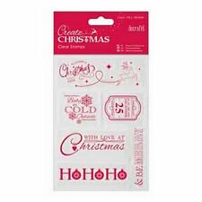 DOCRAFTS CHRISTMAS SENTIMENTS 105MM X 148.5MM CLEAR STAMPS 6 PIECES