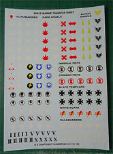 CITADEL - Space Marines - Transfer Decal Sheet - Warhammer 40K