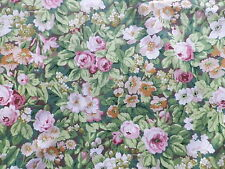 Vintage 1970's Sanderson Cotton Interiors Fabric 'Nina' Over All Green Floral