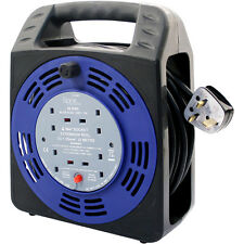 NEW 4 WAY CABLE REEL 25 METERS 13 AMPS 4 SOCKET 25M 13A CABLE