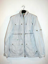 Mens Merrell Light Grey Nylon Field Jacket Size Large Removable Sleeves