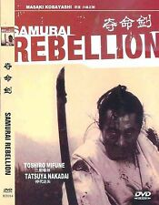 Samurai Rebellion All Region DVD Toshiro Mifune, Tatsuya Nakadai NEW UK R2