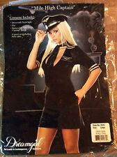 Mile High Captain Adult Large Womens Pilot Sexy  Dress Halloween Costume