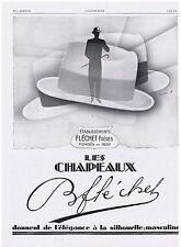 PUBLICITE ADVERTISING 044 1928 Les Chapeaux  B.FLECHET
