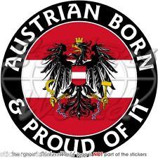 """AUSTRIA Austriaco Nato & Fiero Adesivi in Vinile per Auto 100mm (4"""") Sticker"""