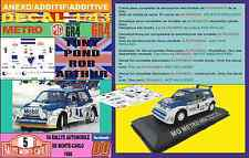 ANEXO DECAL 1/43 MG METRO 6R4 TONY POND R.MONTECARLO 1986 (03)