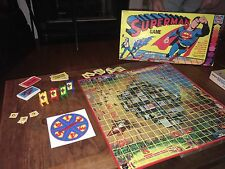 Vintage Superman Board Game Hasbro 1978 (MISSING INStRUCTIONS & 1 Question Card)