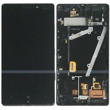 Black Nokia Lumia 930 AMOLED LCD Display Touch Screen Digitizer Assembly+Frame