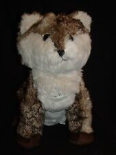 Pottery Barn Teen Brown White Fox Coyote Plush MP3 Music Speakers 13""