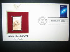 2000 EDWIN POWELL HUBBLE EGG NEBULA 22kt Gold Golden Cover Replica FDC Stamp