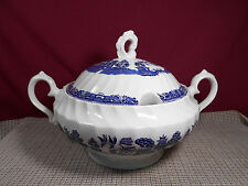 Royal Wessex China Blue Willow Nice Large Soup Tureen