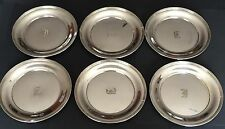 "Six (6x) Antique Sterling Silver 6"" Bread Plates International Watrous P608"