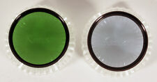 49MM FILTERS SET OF 2 BLUE C4 AND GREEN PO1 VINTAGE