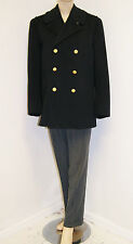 Vintage 50's 60's Men's Naval Officer's Wool Pea Coat - Brass Buttons