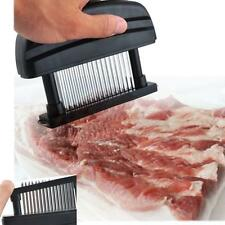 48 Sharp Stainless Steel Blade Knives Meat Tenderizer Kitchen Tool Black NEW