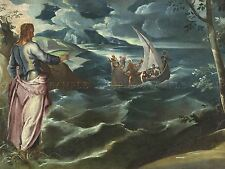 JACOPO TINTORETTO ITALIAN CHRIST SEA GALILEE OLD ART PAINTING POSTER BB5740A