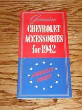 1942 Chevrolet Genuine Accessories Sales Brochure 42 Chevy