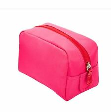 Macy's Pink Red Cosmetic Makeup Handbag Clutch Pouch Vanity Bag Case NWT NEW