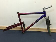 "Vintage Trek 9000 19"" full suspension MTB frame + Mogul fork"