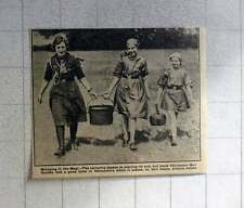 1921 Chichester Girl Guides Bringing In The Meal