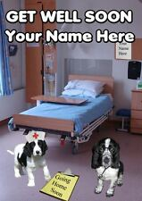 HOSPITAL A5 Personalised Greeting Card Get Well Soon Cocker Spaniel PIDKC
