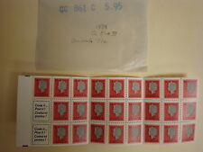 Unused LOT Queen Elizabeth II Complete Book of 25, 14 Cent Stamps, #716 (L7)
