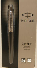 PARKER JOTTER BLACK & PLAID ETCHED STAINLESS STEEL - BALLPOINT PEN BLACK INK