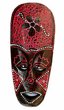 ☆☆ BEAUTIFUL HAND MADE & DOT PAINTED BALI INDONESIA WALL MASK ETHNIC ORNAMENT ☆☆
