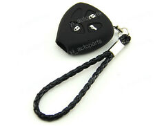 Black Silicone Protective Case Cover Holder For Toyota 3 Buttons 3B Remote Key 4