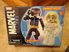 2006 DIAMOND SELECT--MINIMATES MARVEL UNIVERSE--CYCLOPS & EMMA FROST FIGURES