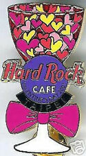 Hard Rock Cafe TAIPEI 2001 Valentine's Day PIN Wine Glass with Hearts HRC #9624