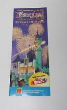 Disneyland 45 Years of Magic Park Guide Map Castle Fireworks 7 2000