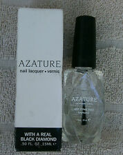 AZATURE Black Diamond Clear Top-Coat Nail Polish  ~ NEW
