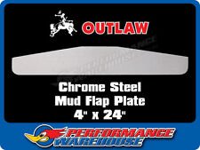"TRUCK CHROME STEEL BOTTOM MUD FLAP PLATE 4"" x 24"" TRUCK RIG USA"