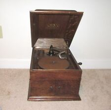 NICE ANTIQUE VICTOR VICTROLA VV-VII 78 RPM DISK PHONOGRAPH OAK CASE
