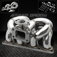 T3/T4 RAM HORN STAINLESS TURBO MANIFOLD EXHAUST 88-00 D-SERIES D15 D16 CIVIC/CRX